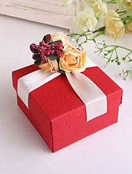 Piazza Rossa di favore Box Con Rose - Set di 12