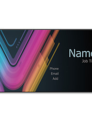 Недорогие -200шт персонализированные 2 Стороны Отпечатано Матовая пленка Разноцветный свет Pattern Визитная карточка