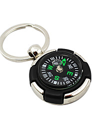 Personalized Keychain Favor With Compass - Set of 4