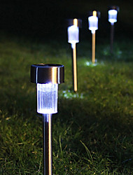 8 White LED Stainless Steel Solar Power Light Outdoor Garden Lawn Decoration Lamp(CIS-57267)