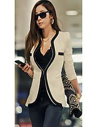 New Fashion vestito da donna Blazer Color Block Slim cappotto tasca della tuta sportiva