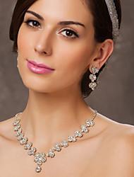 austriaco sposa strass fiori set collana e orecchini