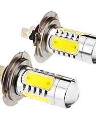 cheap -H7 7.5W 5-LED 6000K Cool White Light LED Bulb for Car (12-24V,2pcs)