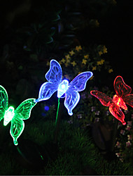 cheap -1pcs Solar Color-Changing Butterfly Garden Stake Light High Quality