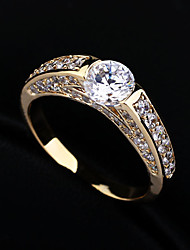 cheap -Women's Ring Cubic Zirconia Rhinestone Gold Silver Alloy Stylish Wedding Party / Evening Costume Jewelry