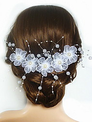 abordables -Imitation de perle Acrylique Satin Fleurs 1 Mariage Occasion spéciale Casque