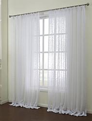 baratos -Dois Painéis Tratamento janela Rústico Quarto Poli/Mistura de Algodão Material Sheer Curtains Shades Decoração para casa For Janela