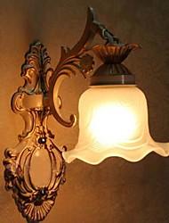 economico -Bathroom Wall Light, 1 Luce, pittura classica, Metallo, Vetro