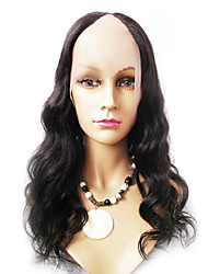 18inch Body Wave Middle Part Indian Remy Hair U Part Wig