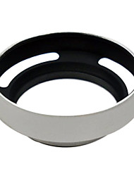 For Leica M 43mm Silver metal vented Lens Hood Shade