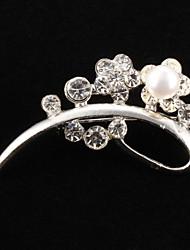 economico -moda in ottone con spilla di perle da sposa elegante stile femminile