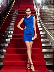 Fourreau / Colonne Drapé Courte / Mini Jersey Soirée Cocktail Retour Vacances Robe avec Détail Cristal par TS Couture®