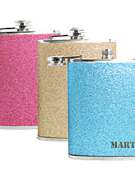 Personalized Gift Splash 8oz PU Leather Capital Letters Flask