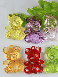 cheap -Lovely Acrylic Bear For Baby Shower Favors - Set of 12 (More Colors)