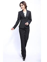 Loongzy Slim Lange ærmer Career Suit (Sort)