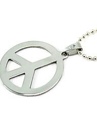 Недорогие -Муж. Ожерелья с подвесками - Титановая сталь мир Серебряный Ожерелье Бижутерия Назначение Для вечеринок, Повседневные