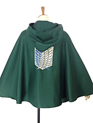 economico -Ispirato da Attack on Titan Levy Anime Costumi Cosplay Cosplay Tops / Bottoms Collage Mantello Per Uomo