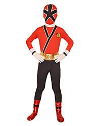 Zentai Dragt Superhelte Soldat/Kriger Spandex Heldragt Cosplay Kostumer Rød Ensfarvet Trikot/Heldragtskostumer Zentai Spandex Lycra Barn