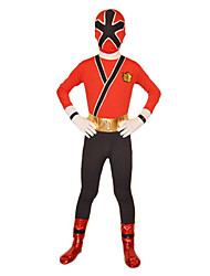 economico -Costumi zentai Tutina aderente Costumi da supereroi Soldato/Guerriero Costumi Zentai Costumi Cosplay Rosso Tinta unita