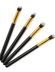cheap -Pro High Quality 4 PCs Synthetic Hair Golden Makeup Eye Brush