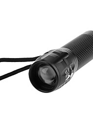 cheap -LED Flashlights / Torch LED 200 lm 3 Mode Zoomable Adjustable Focus Camping/Hiking/Caving Everyday Use Cycling/Bike Traveling Working