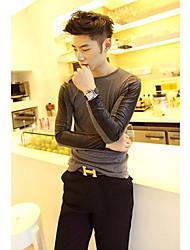povoljno -Majica s rukavima Muškarci-Chic & Moderna Kauzalni Spoj Jednobojni Kolaž