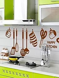 Køkken Ware Pattern DIY Adhesive Aftagelig Vægoverføringsbillede