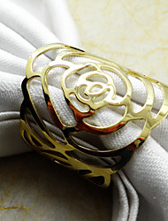 cheap -1Pc Gold / Silver Metal Napkin Ring Home Decorations Napkin Collection