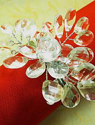 Cristal Wedding Guardanapo Ring, Acrílico Fio Dia. 4,5 centímetros