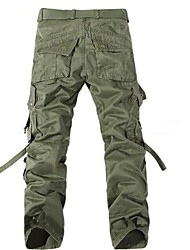 cheap -Men's Medium Waist Pants,Simple Cargo Solid Cotton Winter Fall