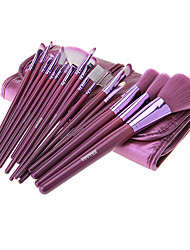 MEGAGA Lila PU-Kasten 18pcs Kosmetik Pinsel Set