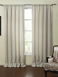 baratos -Cortinas cortinas Sala de Estar Sólido Linho