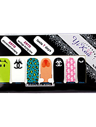 economico -14PCS Full-tip Carino Nail Art Stickers decalcomanie ambientale incinta