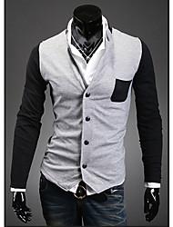 preiswerte -Herrn Einfarbig Alltag T-shirt Strickjacke Langarm