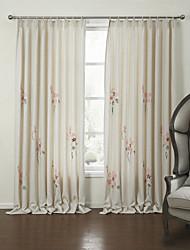 baratos -Dois Painéis Tratamento janela Rústico Quarto Linho Material Cortinas cortinas Decoração para casa For Janela