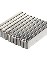 High Quality 20 X 5 X 2Mm Powerful Ndfeb Magnets - Silver (10 Pcs)