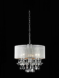 cheap -Pendant Light ,  Modern/Contemporary Drum Electroplated Feature for Crystal Metal Living Room Bedroom Dining Room