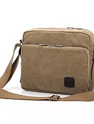 cheap -Men's Bags Canvas Crossbody Bag for Casual All Seasons Black Beige Gray Brown Cream