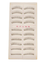 Hand-made Natural False Upper Eyelashes 216 Cosmetic Beauty Care Makeup for Face