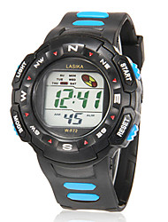 Men's Multi-Functional Round Dial Rubber Band LCD Digital Running Sport Wrist Watch (Assorted Colors) Cool Watch Unique Watch
