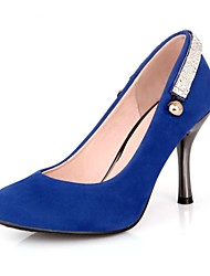 cheap -Women's Shoes Leatherette Spring Summer Fall Stiletto Heel With Rhinestone For Casual Dress Party & Evening Black Red Blue Green Khaki