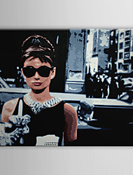 cheap -Stretched Canvas Art Pop Art People Audrey Hepburn of Breakfast at Tiffany's Ready to Hang
