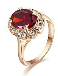 cheap -Classic Lady's Four Claws Red Simulated Diamond Ring   Elegant Style