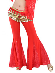 Belly Dance Bottoms Women's Training Polyester Sequined Sequins 1 Piece Pants