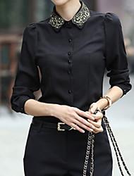 Colorparty The New Professional Women Chiffon Camisa (preto)