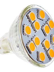 SENCART 210-250 lm GU5.3(MR16) Lâmpadas de Foco de LED MR11 12 leds SMD 5050 Branco Quente AC 12V