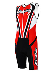Kooplus Tri Suit Men's Women's Unisex Sleeveless Bike Coveralls Clothing Suits Quick Dry Moisture Permeability Wearable Breathable 3D Pad