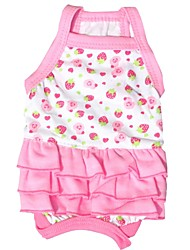 Cat / Dog Dress Rose Dog Clothes Summer Fruit