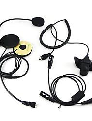 baratos -Rádio em dois sentidos do capacete da motocicleta fone de ouvido para Kenwood Walkie Talkie Two Way Cb radioamador
