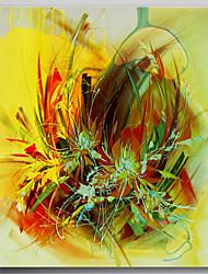 abordables -Peinture à l'huile Hang-peint Peint à la main - Abstrait Contemporain Inclure cadre intérieur / Toile tendue